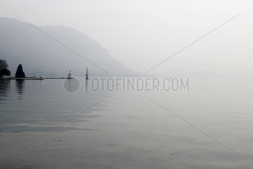 Air pollution on Lake Annecy - France