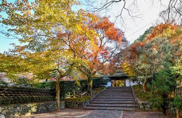 Anrakuji temple entrance  Kyoto  Japan