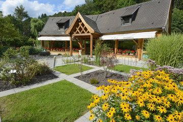 G. Miclo distillery shop and garden - Vosges France