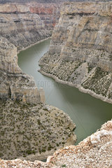 Bighorn river throught the Bighorn Canyon  Bighorn Canyon National Recreation Area  Montana  USA