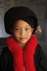 The girl Lu Mien ethnic group in traditional costume - Laos