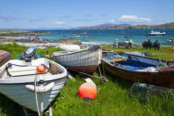 Fishing boats - Iona Island Inner Hebrides Scotland