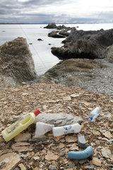 Waste on shore - Spitsbergen