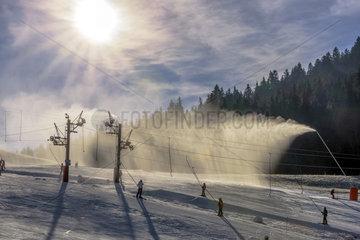 Snowmaking  Autrans ski resort  Meaudre  Massif du Vercors  Alps  France