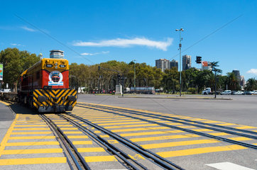 Train in the port of Buenos Aires - Argentina