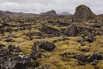 Landscape at dusk  Iceland