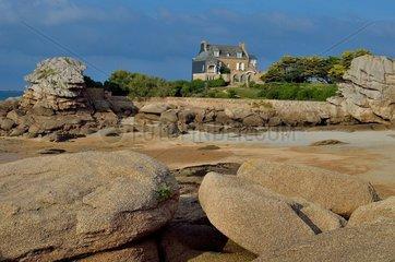 Pink Granite Coast. Tregastel  Brittany  France