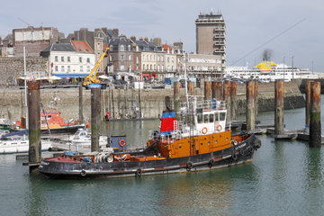 Harbor Tugboat in Dieppe  Normandy  France