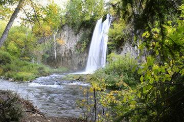 Spearfish Falls  Blackhills  South Dakota  USA