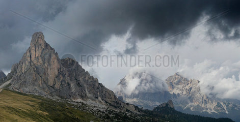 View from Giau pass  Dolomites  Italy