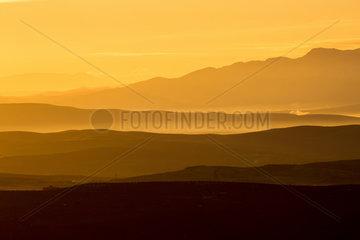 Sunrise on Andujar Natural Park  Jaen  Spain