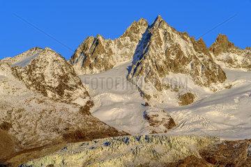 Glacier of the Tour from Les Cheserys  Massif des Aiguilles Rouges  Massif du Mont Blanc  Alps  France