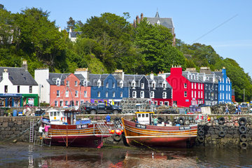 Colored houses of Tobermory - Mull island Hebrides Scotland