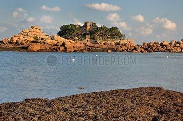 Castle Costaeres: Pink Granite Coast. Brittany  France
