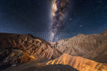 Milky Way over the Valley of Death  San Pedro de Atacama  Chile