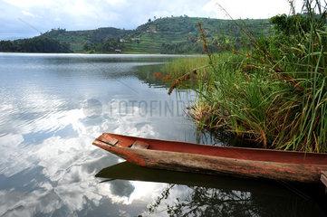 Fishing boat on lake Bunyon - Uganda