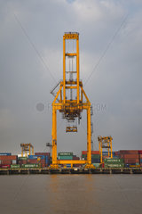 Haiphong commercial port  second largest in Vietnam