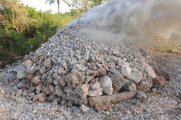 Lime Manufacturing based burned coral - Lamu Kenya