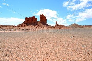 Eroded mesa - Navajo reservation Arizona USA