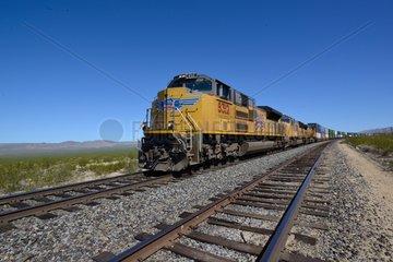 Union pacific railroad - Mojave National Preserve Californie