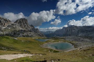 Laghi del Piani  Tre Cime di Lavaredo  Naturpark Drei Zinnen  Dolomites  Italy