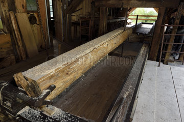 Haut Fer sawmill dating from 1878  the carriage  Territoire de Belfort  France