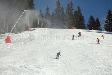 Snow gun in a ski resort - France