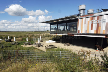 Visitor center - Rainham Marshes RSPB Reserve Essex UK