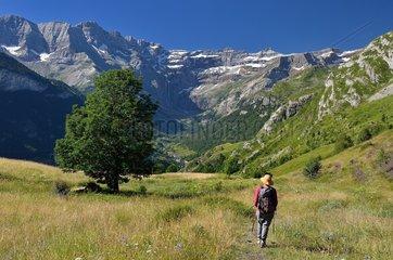 Hiking  Cirque de Gavarnie  Pyrenees National Park  France