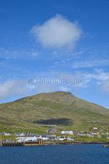 Castlebay village - Barra island Outer Hebrides Scotland