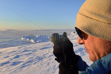 Precise recording of the Sun's position  Greenland  February 2016