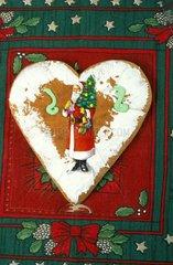Pain d'épices de Noël en forme de coeur Alsace France