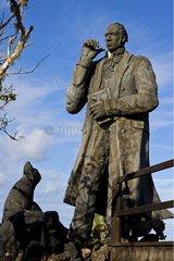 Statue of Charles Darwin San Cristobal Island Galapagos