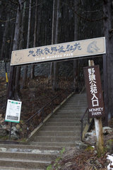 Snow Monkey Park entrance  Joshinetsu Kogen  Japan