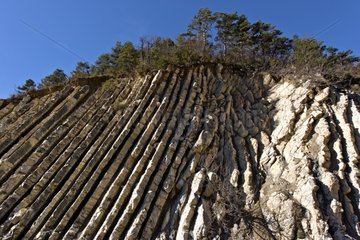 A mix of clay and limestone beds of marl - France