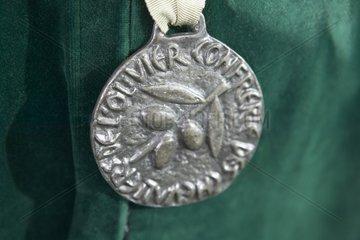 Médaille de la Confrérie de l'Olivier à Nyons