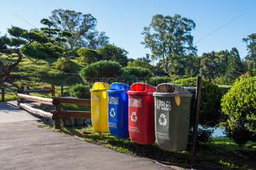Wast bins in the Buenos Aires Japanese Gardens - Argentina