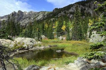 Landscape in the Rocky Mountain National Park  Colorado  USA