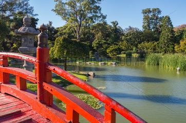Bridge in the Buenos Aires Japanese Gardens - Argentina