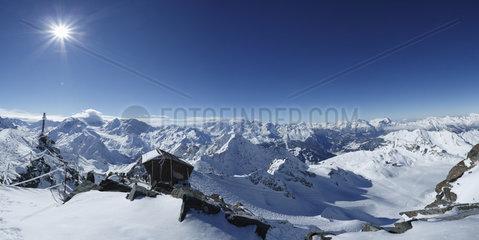 Mont-fort in winter Verbier  Alps  Switzerland