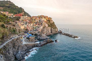 Fishing village  Cinque Terre  Italy
