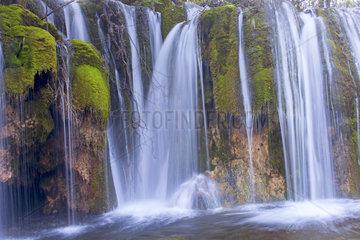 Waterfall  Arrow bamboo lakeFalls  Jiuzhaigou valley  Sichuan  China