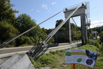 Brion suspension bridge   built in 1854 on the river Ebron between Mens and Monestier-de-Clermont   Mens  Rhône-Alpes  France