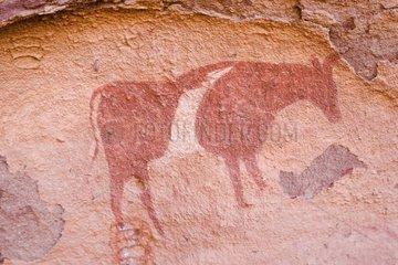 Cave painting Inzouaten Tassili N'ajjer Algeria