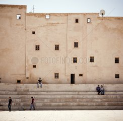 Men on stairs - Fez Morocco