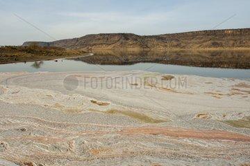 Discharges from the soda plant on Lake Magadi   Kenya