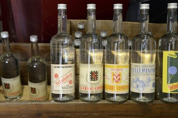 Old bottles  water museum   Velleminfroy   Franche -Comté   France