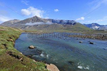 Denmark. Greenland. West coast. Disko Island. RIver of Qassigisat.
