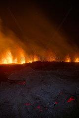 Piton de la Fournaise in activity  Volcano eruption 11 of september 2016  Reunion
