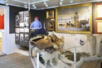 Denmark. Greenland. West coast. The museum of Knud Rasmussen  danish explorator  in the village of Ilulissat.